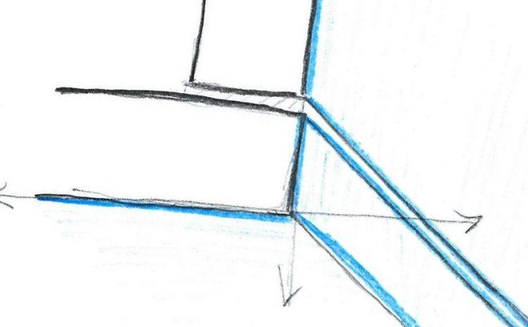 Modalità di accostamento tra loro delle lastre in pietra negli angoli dei fabbricati