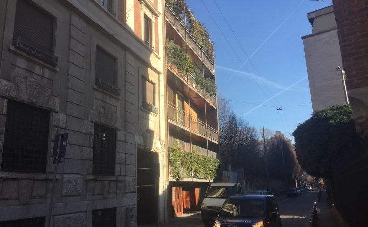 Il palazzo degli Architetti Ghidini e Mozzoni in Via Corridoni 15 a Milano